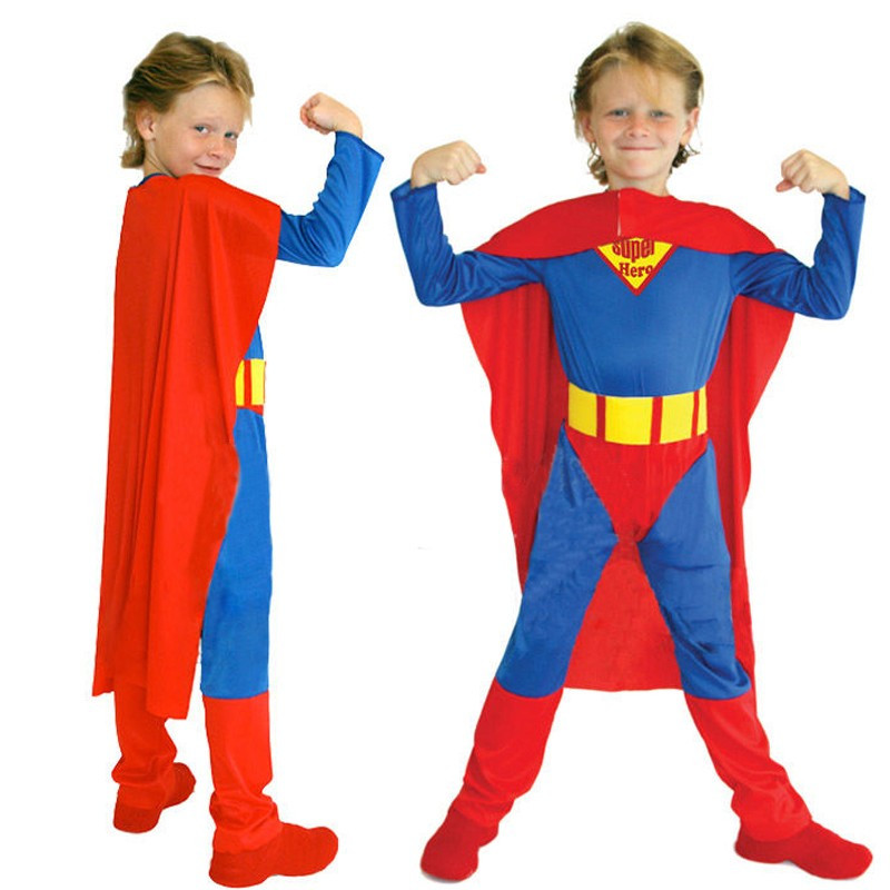 M~XL New Disfraces Superhero Superman Kids Super Hero Cosplay Dress Up Gift Party Carnival Halloween Boy Stage Costumes + Cape-in Boys Costumes from Novelty ...  sc 1 st  AliExpress.com & M~XL New Disfraces Superhero Superman Kids Super Hero Cosplay Dress ...