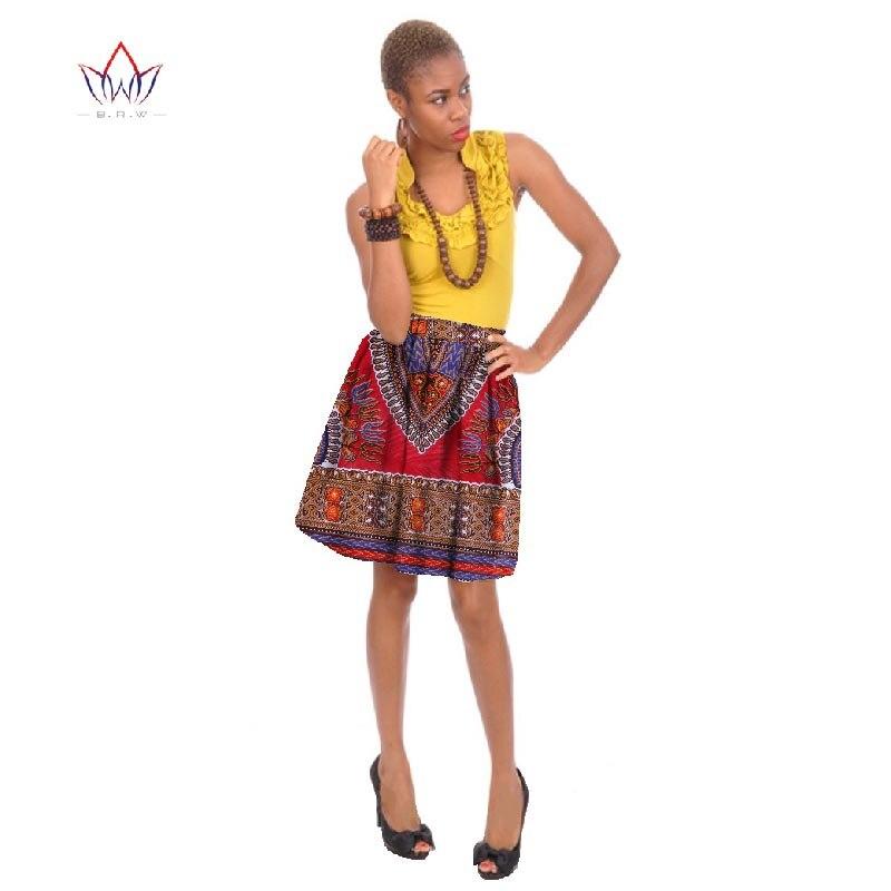 a6f43f9d0 الجملة الأفريقية النساء تنورة الأفريقية طباعة dashikihigh الخصر بطول الركبة  ميدي تنورة الملابس التقليدية الأفريقية WY273