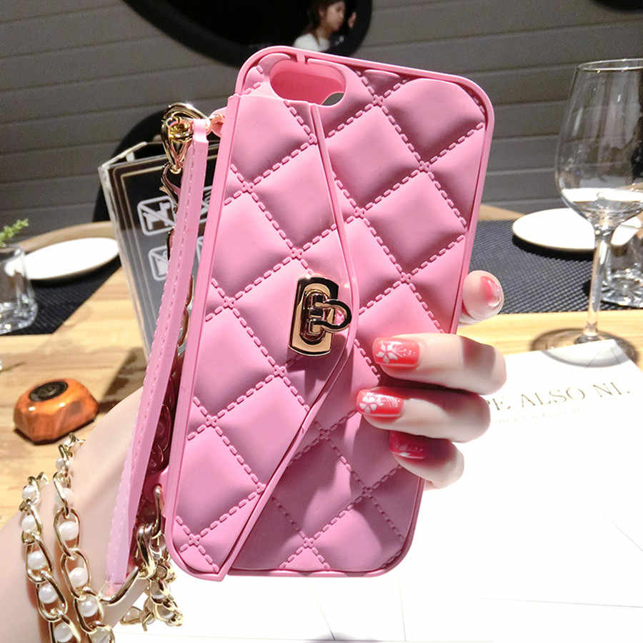 ... Case for iPhone XS MAX XR x 7 8 Plus Luxury Wallet Women s Handbag Card  Silicone ... 452c62c5d291