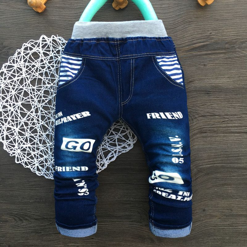 2017 New Style Kids Boy Jeans Elastic Waist Straight Trousers Baby Kids Fashion Denim Pant Casual Jeans Spring Autumn Hot Trends 2018 fashion girls embroidery denim jeans baby soft cotton jeans kids spring autumn casual trousers child elastic waist pants