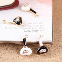 Горный хрусталь / кристалл украшение белый / черный духи бутылки форма подвески-талисманы своими руками ожерелье / ключ цепь подвески