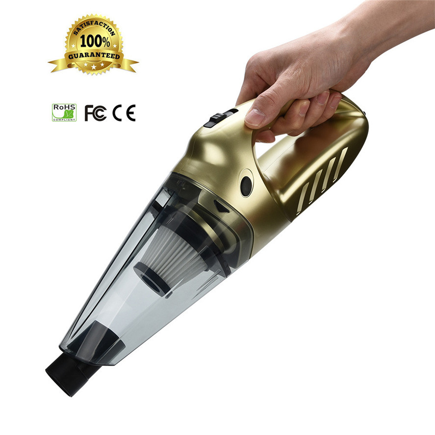 New 1PC Portable 12V Car Vacuum Cleaner 75dB Silent Pet Hair Vacuum for Home & Car Cleaning High Quality Vacuum Cleaner
