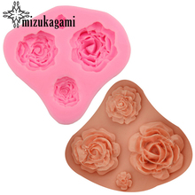 1pcs UV Resin Jewelry Liquid Silicone Mold 3D Rose Flowers Charms Pendant Mold For DIY Silicone Resin Mold For Jewelry Making