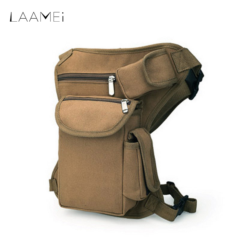Laamei Waist Bag Men Adjustable Zipper Belt Bag Male Casual Multi-Pocket Man Leg Bags Sportwear Fashion High Quality 32*23*6cm casual straight leg patch pocket bleach wash slimming zipper fly flocky jeans for men