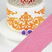 Lace silicone mold food grade The Pattern cake mold cake sucrose fondant cake decorating tools Lace border Chocolate Clay mold цена и фото