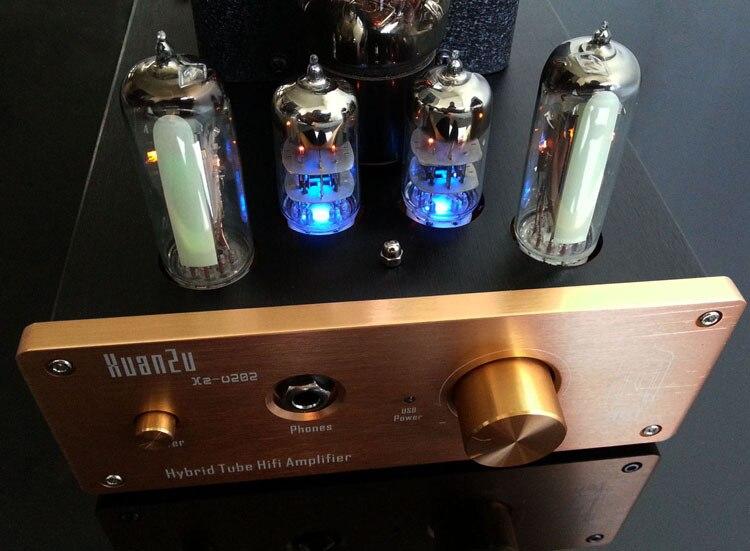 2017 XZ-Audio U202 Audio pour La Maison Tube Casque Amplificateur/Pré-amplificateur Entrée USB/AUX/RCA DAC Audio Décodeur AC110V/220 V