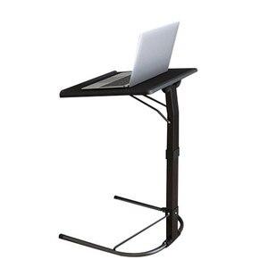 Image 1 - U 모양 플라스틱 pc 테이블 컴퓨터 책상 학습 소파 노트북 침대 테이블은 20kg 조정 가능한 연구 밀도 보드 데스크를 곰 수 있습니다