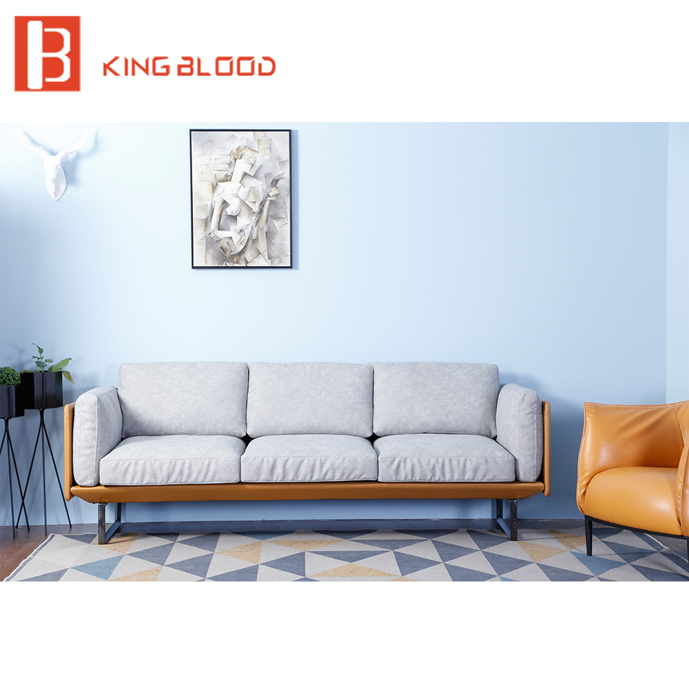 Made In Italy Leather Luxury Contemporary Furniture Set: Luxury Modern Hotel Lobby Italy Nappa Leather Sofa Set