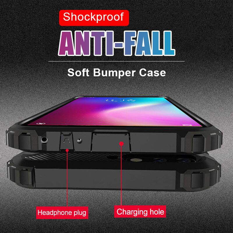 Luxury Soft Silicone Bumper Case On The For Xiaomi Redmi 7 Note 7 6 5 Pro Shockproof Case For Pocophone F1 6A 5A Back Case Cover