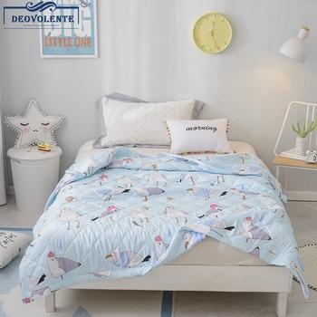 Мягкий мытый Одеяло Лето мультфильм детский плед полиэфир животный узор мультфильм кашне покрывало одеяло ing домашний текстиль