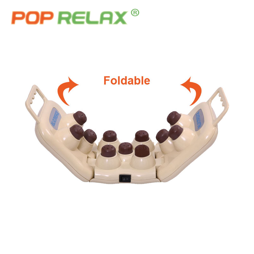 POP RELAX foldable tourmaline body massage roller light therapy device pain relief ion handheld projector heater massager TP11 pop relax negative ion magnetic therapy tourmaline mat pr c06a 55x120cm ce