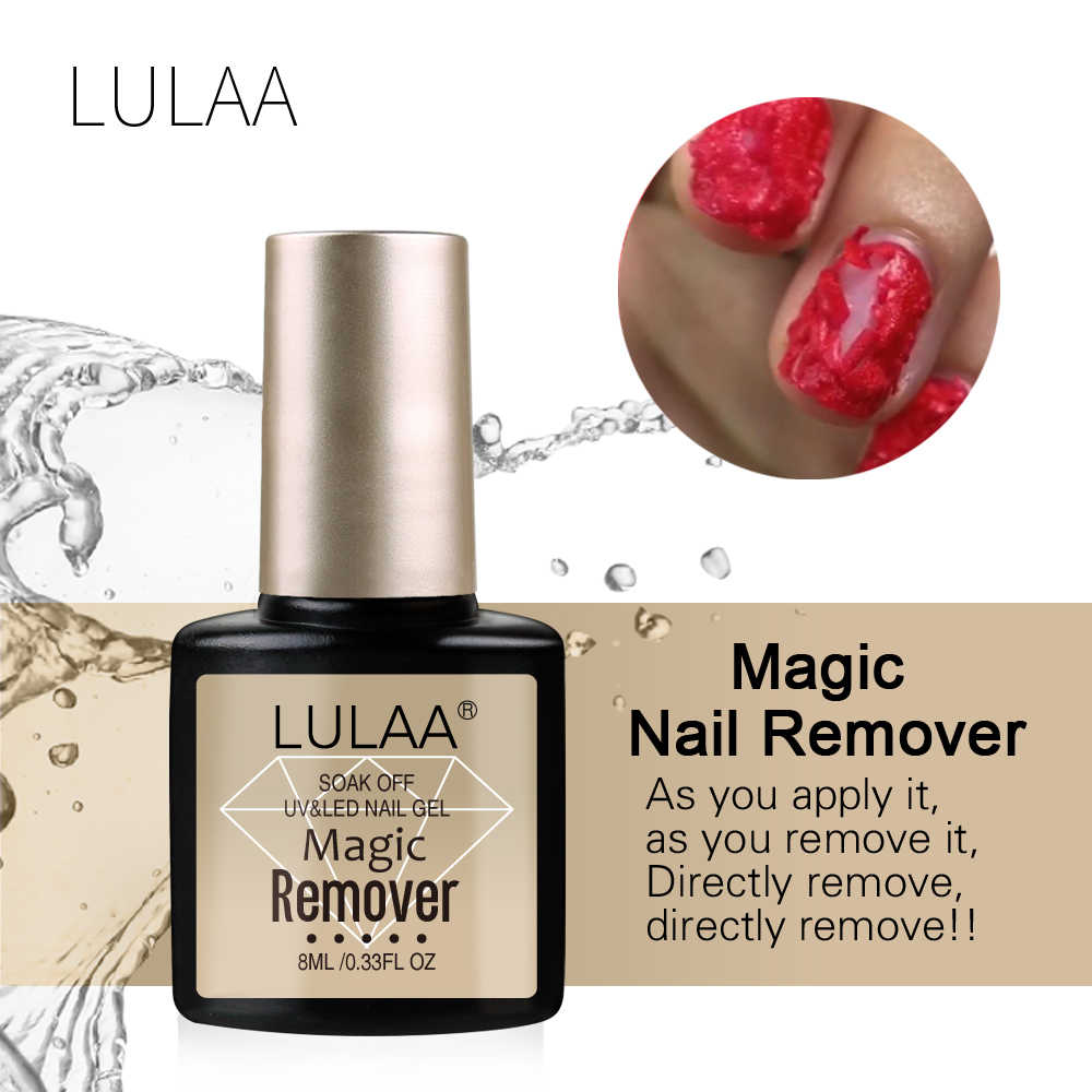 LULAA 2019 Magic Explosion Gel Nail Polish Remover Cleaner Nail Gel UV Degreaser Liquid Remove Sticky Manicure Coat Tools 8ml