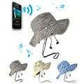 Bluetooth Alto-falantes Estéreo Mãos Livres Chapéu Verão Cap Praia Dobrável