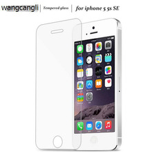 Wangcangli 10pcs tempered glass for iphone 5 5s 5c screen protectors for iphone5 5s glass front cover stark азу stark iphone5 5s 5c 1a 8 pin white