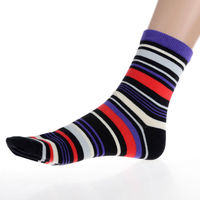 Vintage 5 Pairs Sets Mens Cotton Socks Lot Warm Multi Color Fancy Striped Casual Autumn Winter