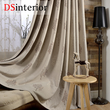 DSinterior modern jacquard tree design curtain for bedroom or living room window custom made
