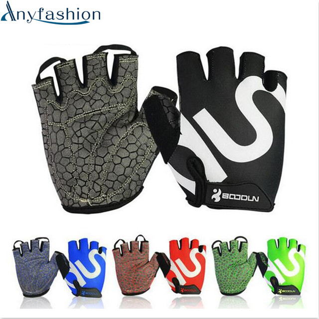 Anyfashion Gym Gloves Men Women Body Building Half Finger Fitness Gloves An-slip Weight Lifting Sports Training Fingerless Glove