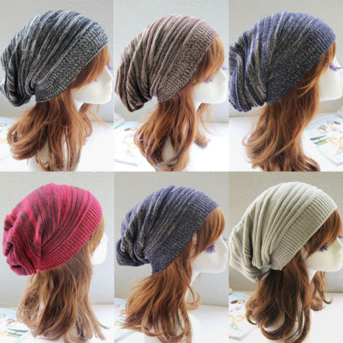 Premuroso Inverno Caldo Degli Uomini Delle Donne Nuovo Solid Knit Ski Crochet Slouch Cappello Unisex Cap Beanie Hip-hop Cappelli Caldi