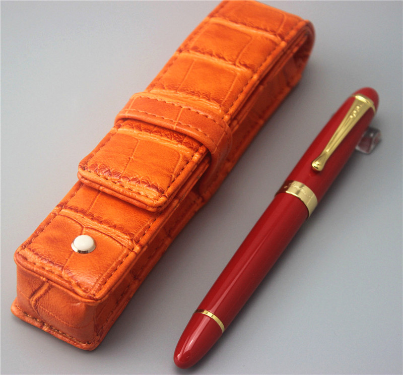 red JINHAO 450 free shipping fountain pen and bag High quality men women pens luxury business gift school office supplies 008 jinhao fountain pen unique design high quality dragon pens luxury business gift school office supplies send father friend 008
