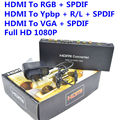 BrankBassHDMI to RGB Component YPbPr Audio Video Adapter HDMI to VGA /SPDIF/RL Converter Support 5.1CH Surround Sound