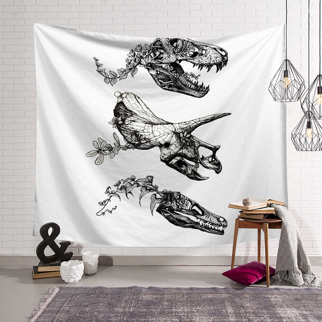 CAMMITEVER Dinosaur Bones Fossil Wall Tapestry Home Decoration Wall Hanging Tapestries For Living Room Bedroom Art