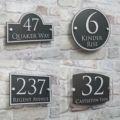 Современный домашний адрес, табличка, дверной номер, знаки, именные таблички, стеклянный эффект, акрил