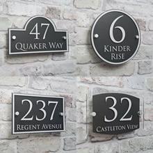 Dostosuj nowoczesny dom tablica adresowa numer drzwi znaki tabliczki szklane efekt akrylowy