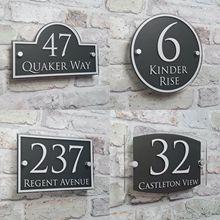 Personalizar la placa de dirección moderna de la puerta número signos nombre placas cristal efecto Acrílico
