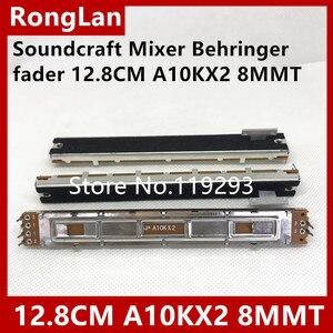 Image 1 - [Bella] Mixer Fader 12.8 Cm 128 Mm Soundcraft Mixer Behringer Fader Dubbele Potentiometer A10K A10KX2 Handvat 8T SC 100G  10PCS/Lot