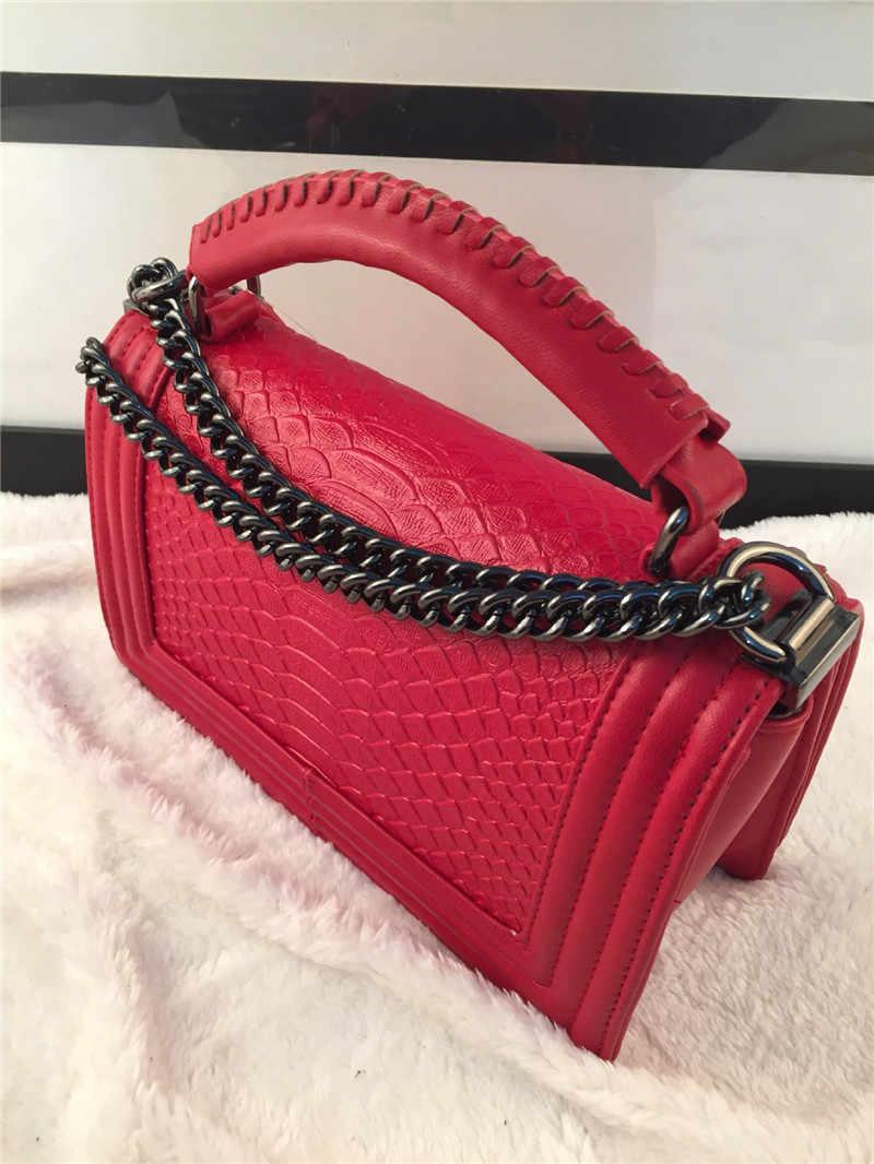 Designer de luxo tote bag Mulheres de Couro Genuíno Bolsas de marcas famosas Mulheres Mensageiro Saco Acolchoado Cadeia Ombro Sacos de embreagem saco