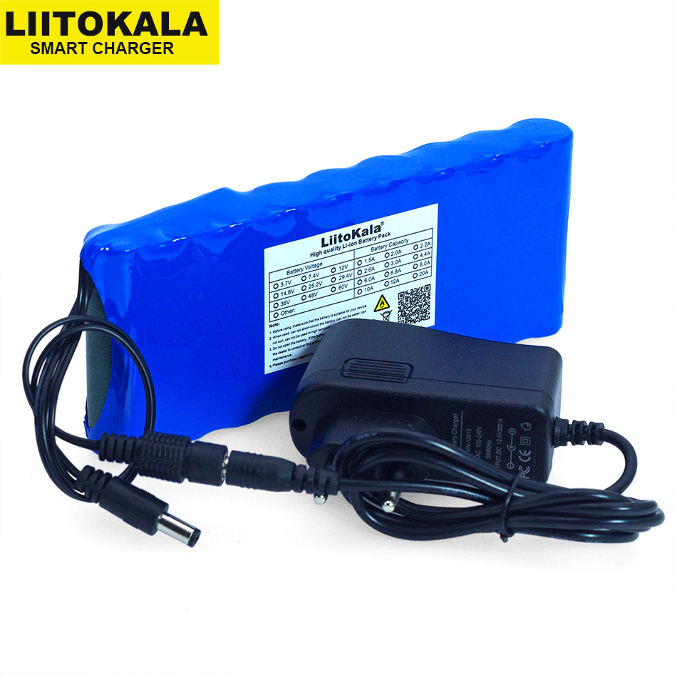 12 v 9.8Ah 9800mAh 18650 Rechargeable batteries 12V Li Ion Battery pack Protection Board CCTV Monitor battery +12.6V 1A Charger|Battery Packs|   - title=