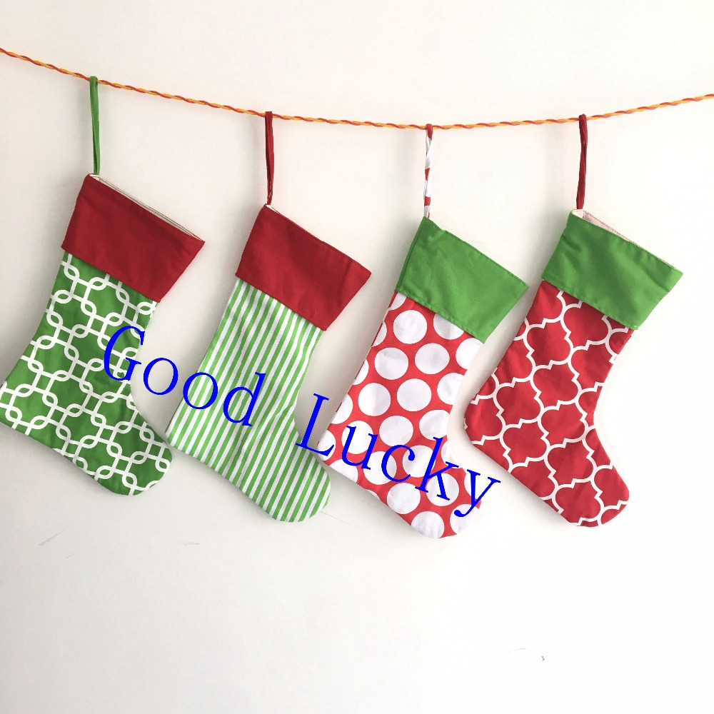 7d4a0cbb6d1 40pcs lot free shipping Christmas gift canvas stocking wholesale mixed colors  stockings monogram personalized Christmas stocking-in Stockings   Gift  Holders ...