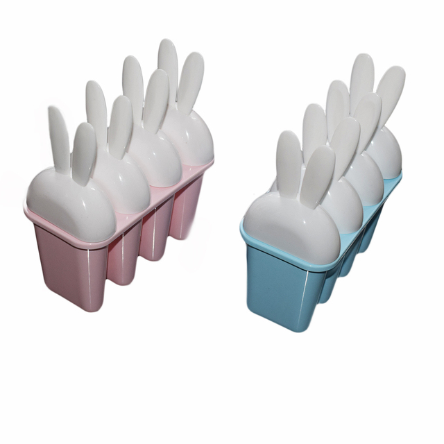 Zeegle Plastic Diy Ice Cream Mold Rabbit Shape Jelly Maker Bar Party Drink Cube Tray