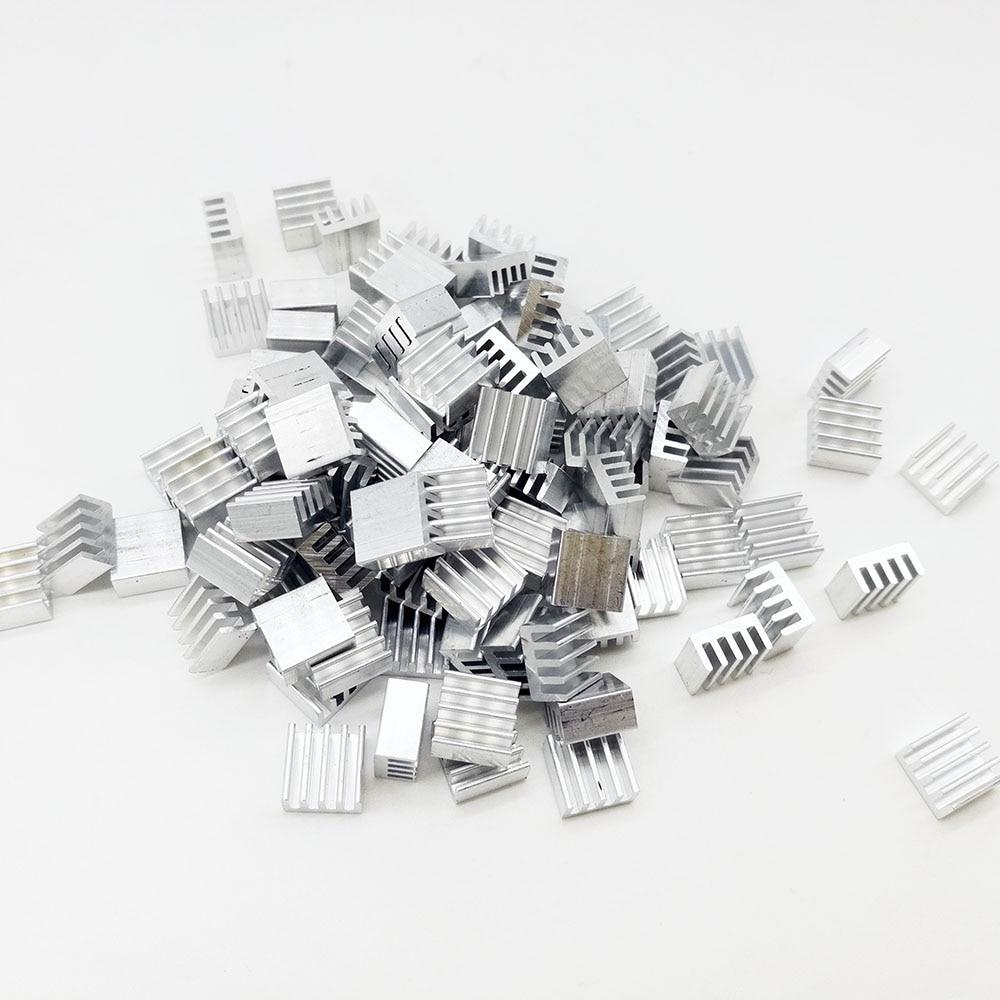 100Pcs/lot Aluminum Routing Heatsink Electronic Chip Cooling Radiator 8.8x8.8x5mm for A4988 Chip Wholesale 10pcs electronic radiator 9 9 9mm mother board graphics card mos tube fin ic chip small aluminum radiator mainboard heatsink