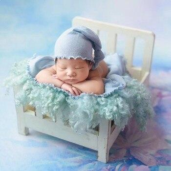 Детские реквизит для фотосессии новорожденных Fotografia деревянный съемный кровать для фотосессии аксессуары дерево младенческой фотографии ...