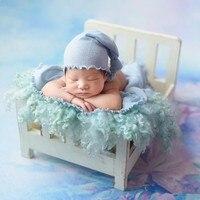 Accesorios de foto para bebé recién nacido Fotografia cama desmontable de madera para sesión de fotos accesorios de madera para fotografía infantil sofá cesta