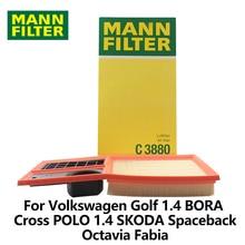 1pc MANN FILTER Car Air Filter For Volkswagen Golf 1.4 BORA 1.6L Cross POLO 1.4 SKODA Spaceback Octavia Fabia 1.4L 1.6L C3880