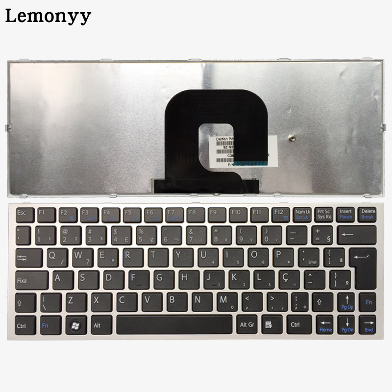 Arabic/Brazilian Laptop keyboard FOR SONY Vaio VPC YA VPC YB VPC YA YB VPCYB15JC VPCYB35JC YB15AL Silver/Black With frame-in Replacement Keyboards from Computer & Office    1