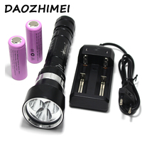 Scuba Diving Flashlight 26650 Light Dive Torch Powerful LED XM L2x3 Underwater Flashlight Waterproof Diving Lamp lanterna