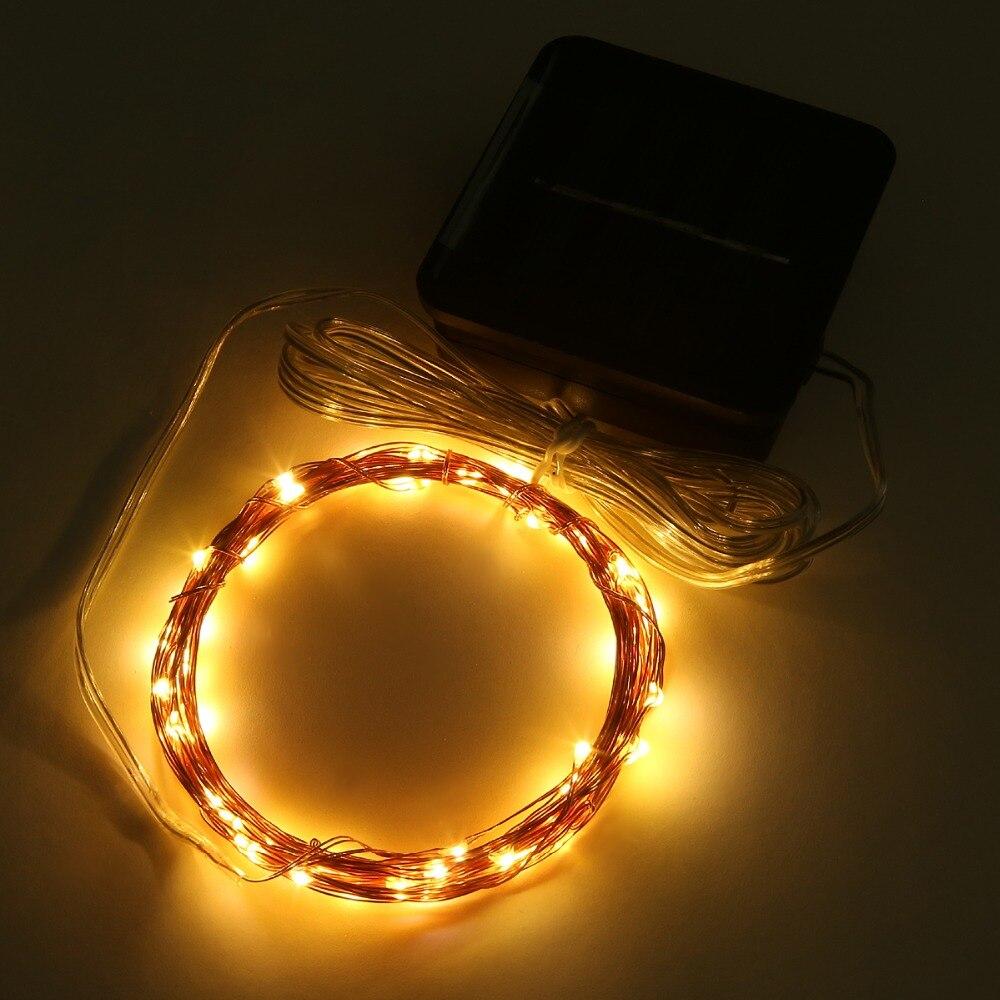 Magicnight Solar Mini Teeny Tiny Lights,Starry String Light for Garden Fairy,Tree,Railing,Arbor,Fence,16 Feet 50LEDs,2 Pack