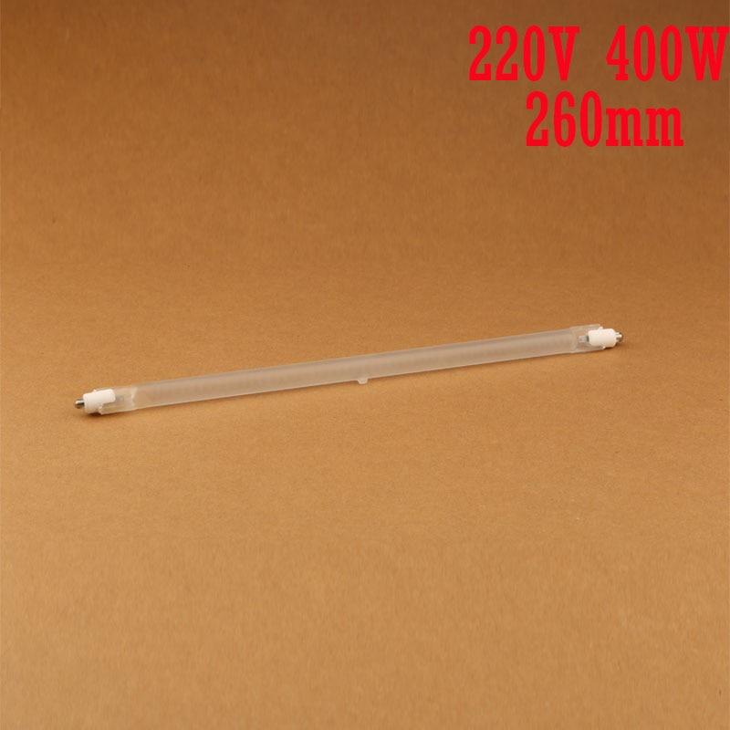 260mm 400W vacuum halogen tube for electric heat / directional,heater machine infrared heating element,IR radiation quartz tube