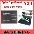 NEW! (100% quality A+V52) fg tech fgtech galletto 4 Master FGTech Support BDM function+BDM FRAME adapter sets DHL  ems free