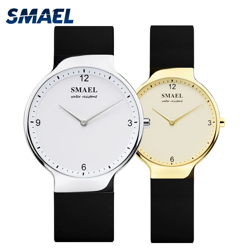 Couple Watches for Lovers 2018 SMAEL New Couple Wristwatches Men and Women Quartz Watch Silicone Strap Digital Watch Waterproof(China)