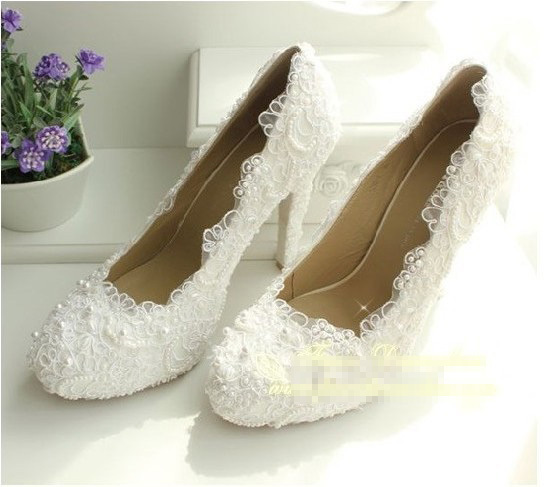 2016 New Luxury Fashion Wedding Dress Shoes Brida Gowns High Heel Pumps Party Evening shoes Imitation