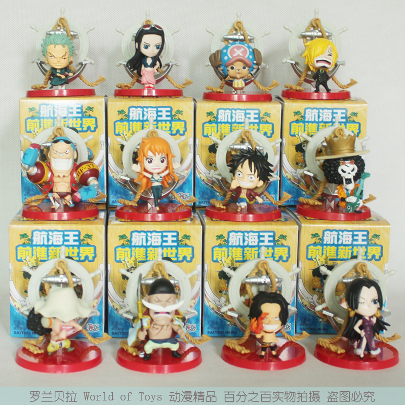 Free Shipping Anime One Piece Luffy Sanji Zoro Nami Robin Brook Ace PVC Action Figure Collection Toys 12pcs/set  OPFG265 free shipping japanese animation cool 5x one piece usopp sanji nami robin franky 14cm 16cm pvc figure set loose