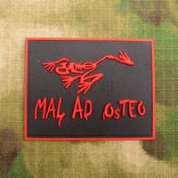 Red Devgru SealTeam MAL AD OSTEO Skull Frog Military Tactical Morale 3D PVC patch Badges PB1158