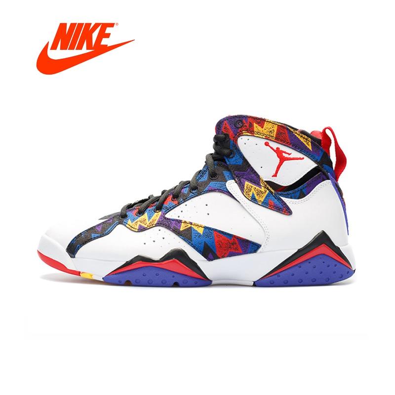 Original Nouvelle Arrivée Authentique Nike Air Jordan 7 Rétro Aj7 Hommes de Basket-Ball Chaussures Sport En Plein Air Sneakers Bonne Qualité 304775 -142