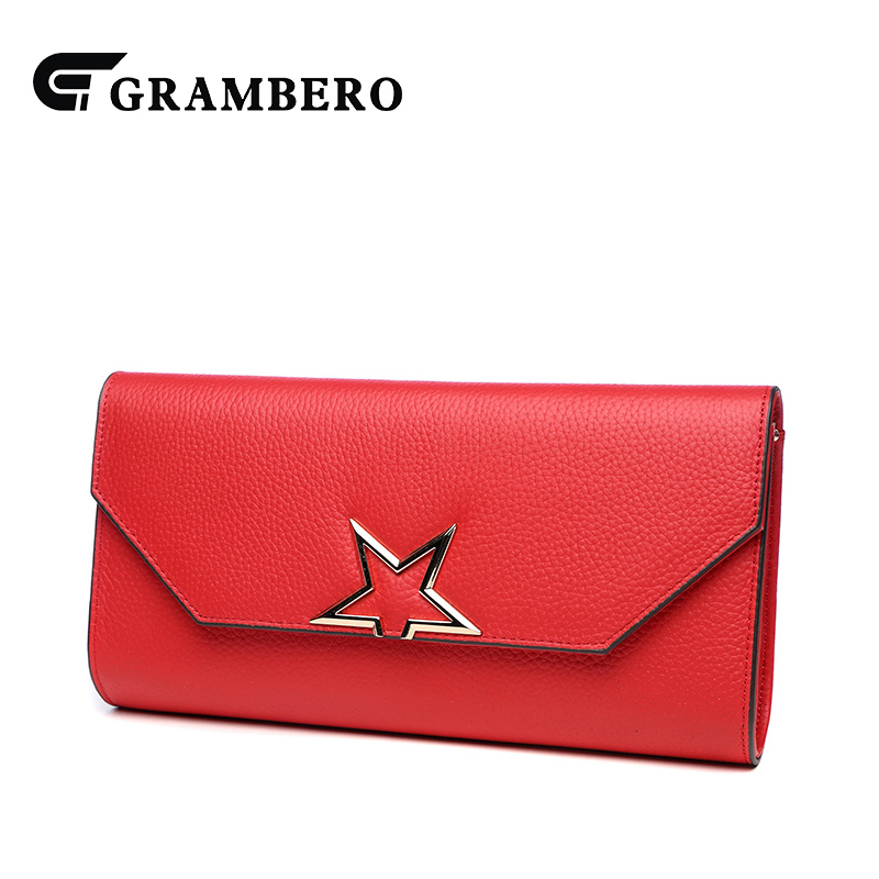 Casual Solid Color Soft Genuine Leather Women Clutch Wallet Top Leather Cover Party Shopping Shoulder Crossbody Bags Big Purse casual solid color top leather shoulder bag heart shaped decoration cover fashion women clutch wallet crossbody messenger bag