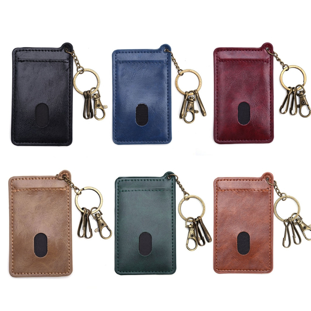 Retro Business Card Faux Leather Credit Card Id Holders Men Women