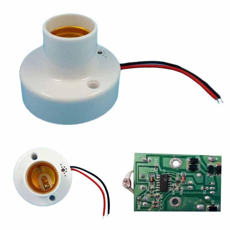 Image 5 - Universal E27 110V 220V 50Hz Lamp Holder Sound Voice Control Induction Light Bulb Switch Adapter for corridors passageways Z3-in Remote Controls from Consumer Electronics